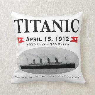 """Titanic Ghost Ship Pillow Throw Pillow 20""""x20"""""""