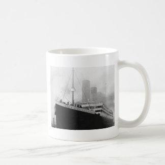 Titanic in dock in Southampton Coffee Mug
