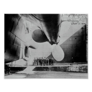 Titanic In Dry Dock - May 31, 1911 Poster