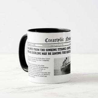 Titanic news mug