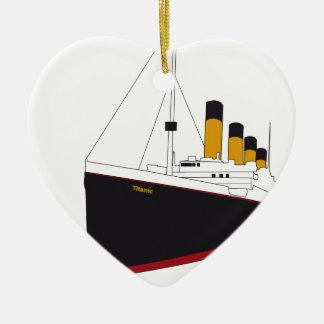 titanic original ceramic heart ornament