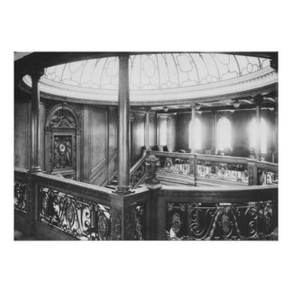 Titanic Photo Grand Staircase, Dome Skylight Poster