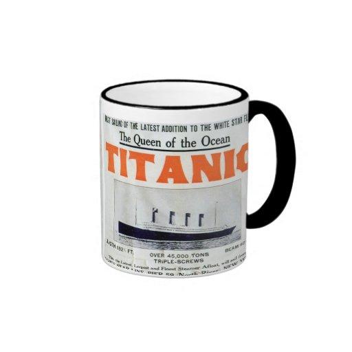 Titanic Queen Of The Ocean Poster Mug