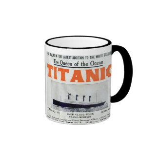 Titanic Queen Of The Ocean Poster Ringer Coffee Mug