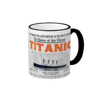 Titanic Queen Of The Ocean Poster Ringer Mug