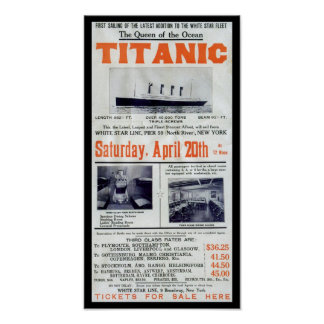 Titanic Queen Of The Ocean - White Star Line Poster