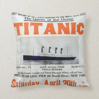 Titanic Queen Of The Ocean - White Star Line Throw Pillow