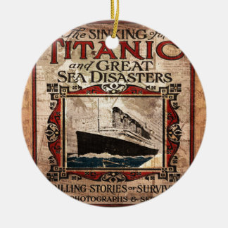 Titanic Round Ceramic Ornament