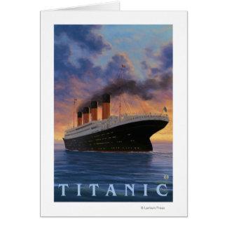Titanic SceneWhite Star Line Greeting Card