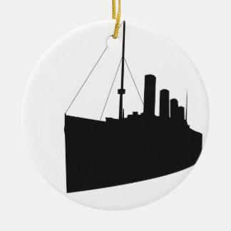 titanic shades round ceramic ornament