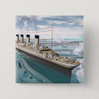 Titanic ship - 3D render 2 Inch Square Button