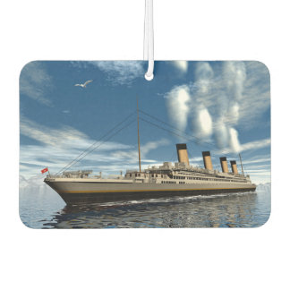 Titanic ship - 3D render Air Freshener