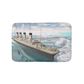 Titanic ship - 3D render Bath Mat