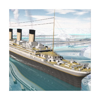Titanic ship - 3D render Canvas Print