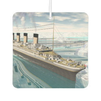 Titanic ship - 3D render Car Air Freshener