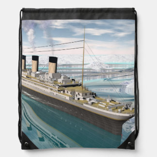 Titanic ship - 3D render Drawstring Bag