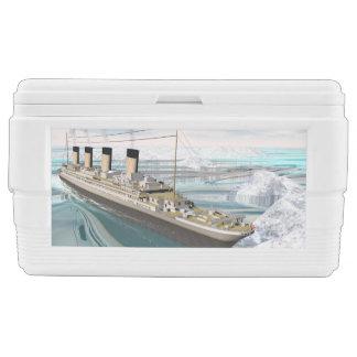 Titanic ship - 3D render Ice Chest