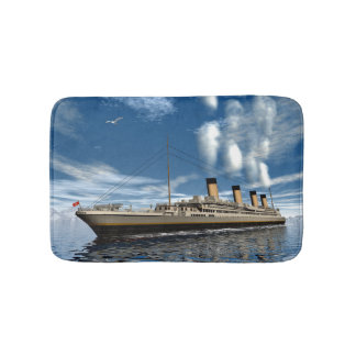 Titanic ship - 3D render.j Bath Mat