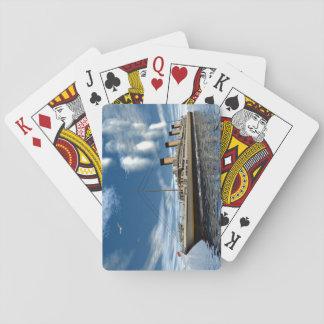 Titanic ship - 3D render.j Playing Cards