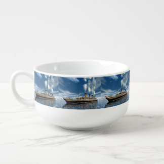 Titanic ship - 3D render.j Soup Mug