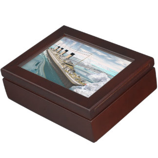 Titanic ship - 3D render Keepsake Box