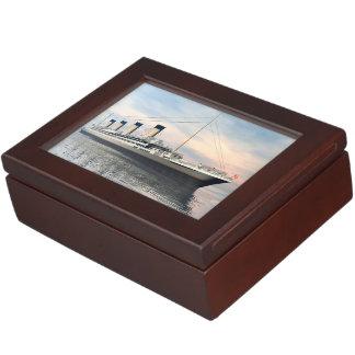 Titanic ship - 3D render Keepsake Box