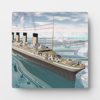 Titanic ship - 3D render Plaque