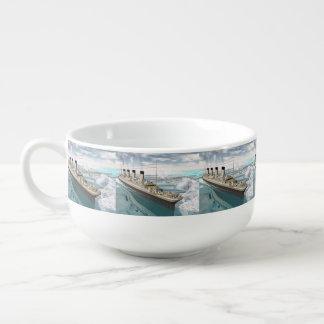 Titanic ship - 3D render Soup Mug