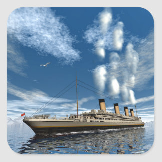 Titanic ship - 3D render Square Sticker