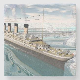Titanic ship - 3D render Stone Coaster