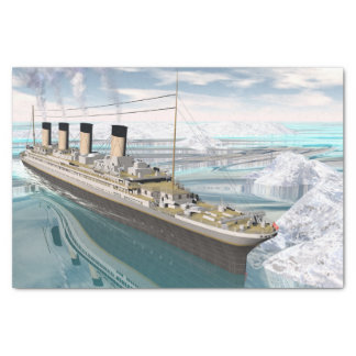 Titanic ship - 3D render Tissue Paper
