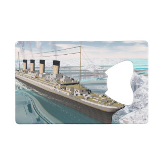 Titanic ship - 3D render Wallet Bottle Opener