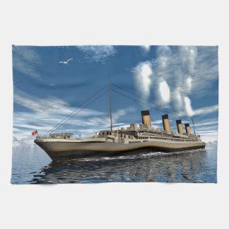 Titanic ship kitchen towel