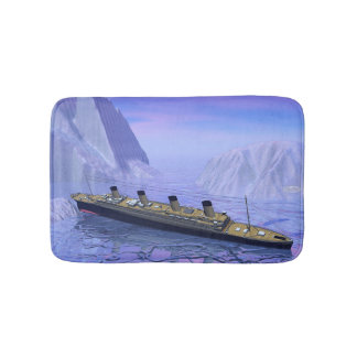 Titanic ship sinking - 3D render Bath Mat