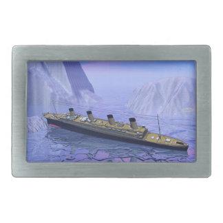 Titanic ship sinking - 3D render Belt Buckles