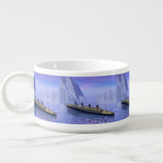 Titanic ship sinking - 3D render Bowl