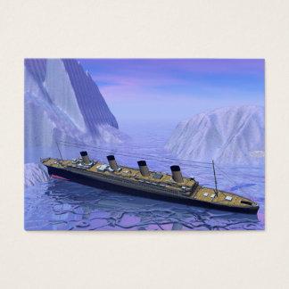 Titanic ship sinking - 3D render Business Card
