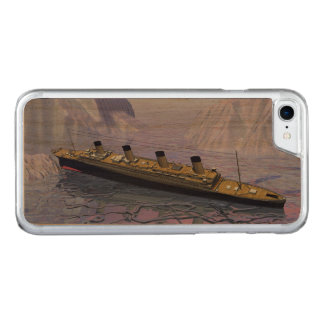 Titanic ship sinking - 3D render Carved iPhone 8/7 Case