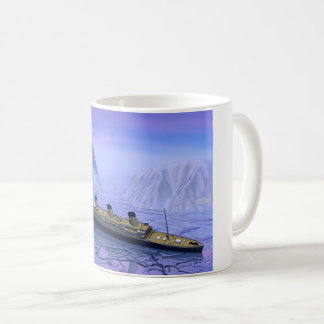 Titanic ship sinking - 3D render Coffee Mug
