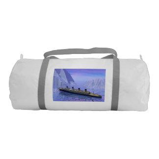 Titanic ship sinking - 3D render Gym Bag