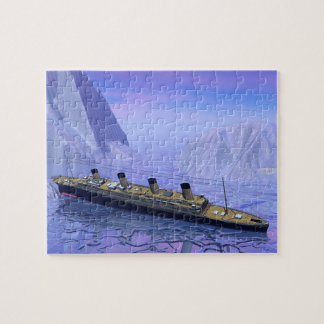 Titanic ship sinking - 3D render Jigsaw Puzzle