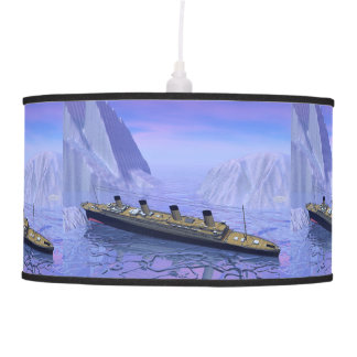 Titanic ship sinking - 3D render Pendant Lamp