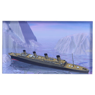 Titanic ship sinking - 3D render Table Card Holder