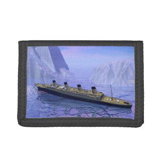 Titanic ship sinking - 3D render Trifold Wallet