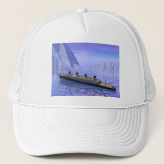 Titanic ship sinking - 3D render Trucker Hat