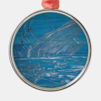 Titanic Silver-Colored Round Ornament