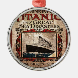 Titanic Silver-Colored Round Ornament