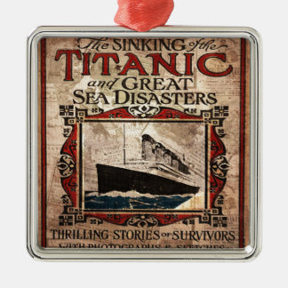 Titanic Silver-Colored Square Ornament