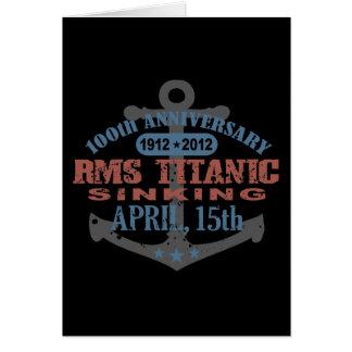 Titanic Sinking 100 Year Anniversary Cards