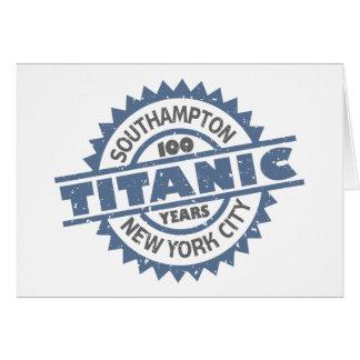 Titanic Sinking 100 Year Anniversary Greeting Card